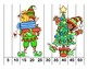 K-1 Counting Puzzles- Counting by 1's, 2's, 5's, and 10's-Christmas Town