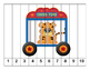 K-1 Counting Puzzles- Counting by 1's, 2's, 5's, and 10's-Circus Theme
