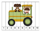 K-1 Counting Puzzles- Counting by 1's, 2's, 5's, and 10's-Farm Favorites Theme
