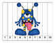 K-1 Counting Puzzles- Counting by 1's, 2's, 5's, and 10's-More Funny Monsters