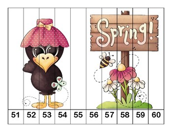 Counting by 1's, 2's, 5's, and 10's-Spring-K-1 Counting Puzzles