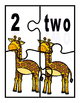 K-1 Counting and Pairing Numbers With Their name and Amount-CCSS-Zoo Animals