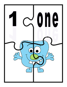 K-1 Counting and Pairing Numbers With Their name and Amount-CCSS-Monster Theme