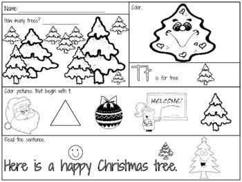 K-1 December Morning Start Fun Pages