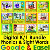 K/1 Digital Bundle Google Slides Phonics Rhyming Sight Words
