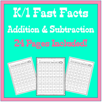K/1 Fast Facts 24-Page Set