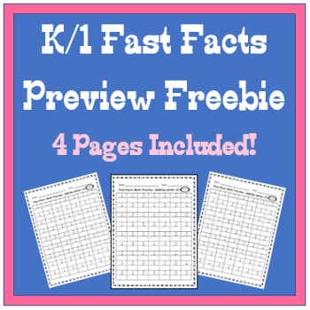 K/1 Fast Facts Preview- Free!!!