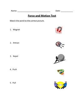 K-1 Force and Motion Unit