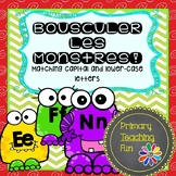 French Phonics activities, match lower-case and capital letters, literacy center