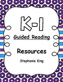 K-1 Guided Reading Resources