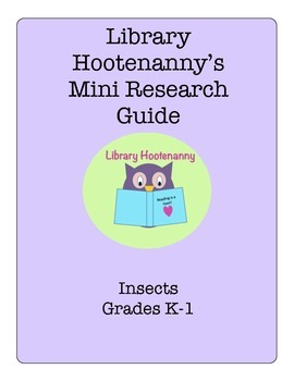 K-1 Insect Research Graphic Organizer