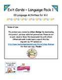 K-1 Language Exit Cards