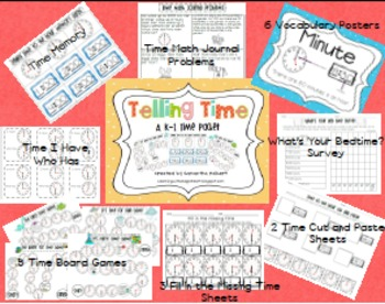 K-1 Math Combo Pack, 3-D Shapes, Probability, Graphing & Time
