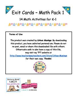 K-1 Math Exit Cards