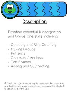 "K-1 Math ""I can"" Skills Practice"