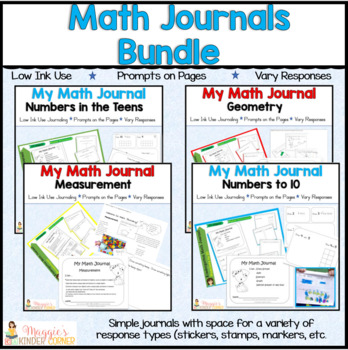 #DiscountedBundles K-1 Math Journals  Prompts On the Page No Cut/Paste
