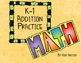 K-1 Math Problem Solving Book ... Addition