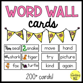 K/1 Minimalist Word Wall Cards