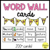 K/1 Minimalist Word Wall Cards