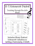 K-1 Music Homework Packet
