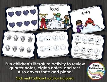 K/1 Music Lesson with Children's Literature - Rhythm Dynamics - Snowball Fight