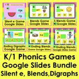 K/1 Digital Phonics Games for Google Slides Distance Learn