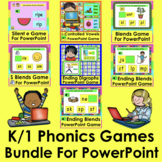 K/1 Phonics Games for PowerPoint Distance Learning