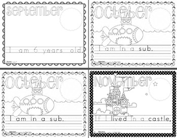 K-1 Primary Monthly Journal Mega Pack: Set 1