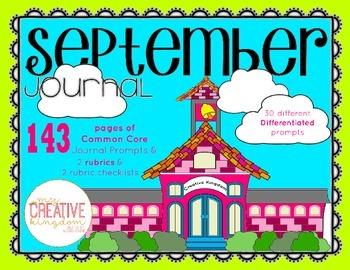 K-1 Primary September Writing Journal