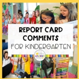 K-1 Report Card Comments