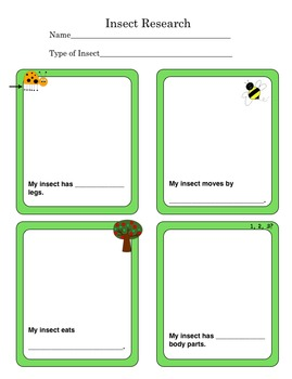 K-1 Research Graphic Organizer Bundle