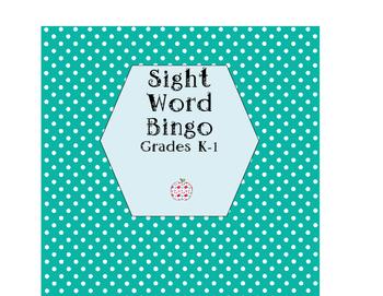 K-1 Sight Word Bingo!