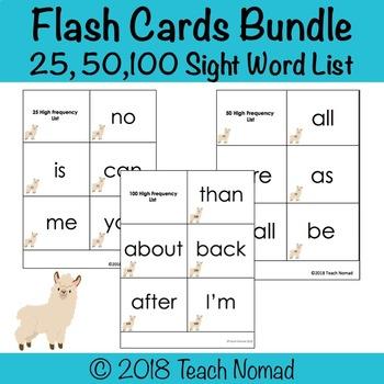 K-1 Sight Word Flash Card Bundle