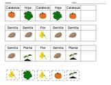 K-1 Spanish Fall Pattern Identification Worksheet
