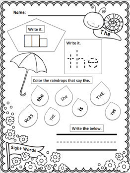 K-1 Spring Pick-and-Choose Packet!