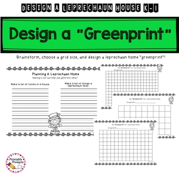 K-1 St. Patrick's Day Math- Leprechaun House Counting Project
