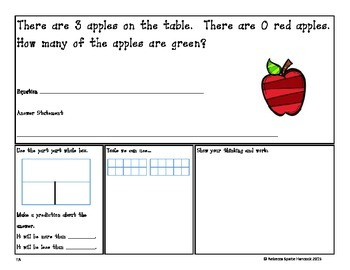 K-1 Subtraction Word Problem of the Day (within 5) Freebie