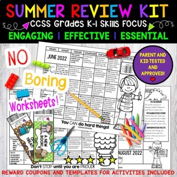 Summer Review They Will LOVE to Do! K-1. Activity Calendars and More!