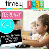 K-1 Timely Tech February Themed Computer Lab Lessons