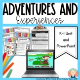 Adventures and Experiences of Characters for K-1 - PRINT A