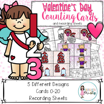 K-1 Valentine's Day Counting Center (0-20)