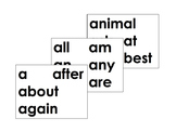 K/1 Word Wall Words