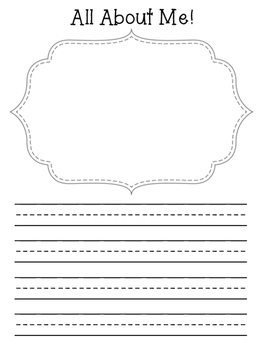 K-1 Writing Prompts- Print & Go!