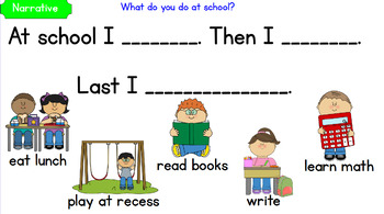 K-1 Writing Prompts with sentence stems on Active Inspire