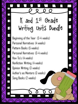 K-1 Writing Units Bundle