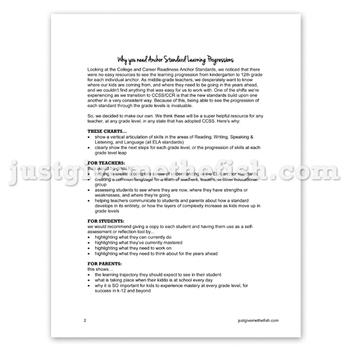 K-12 CCSS/CCR Anchor Standards - ELA Bundle