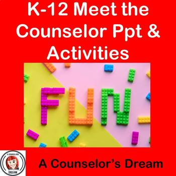 K-12 Meet the Counselor PowerPoint Presentation and Activities