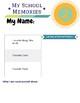 K-12 Memory Printable Memory Book