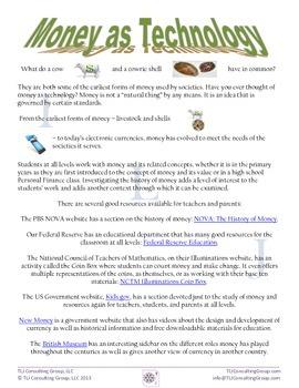 K-12 Money Websites and Activities