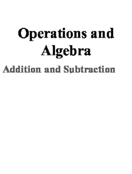 K-12 Operations and Algebra Proficiency Scales (0-4)